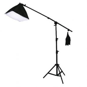 10 x 20 Muslin Chromakey Green Screen Background Support Stand Kit 2700 Watt Hair Light Boom Stand Studio Photo Video Lighting Kit H604SB-1020G-1290