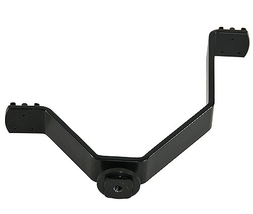 Dual Mount Light And Sound Bracket, Camcorder Dual Mount Bracket for Video Lights and Microphones V Bracket-1276