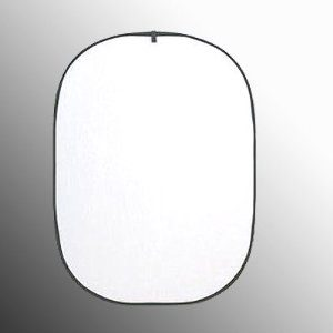 43x66-Inches Oval Collapsible Translucent White Reflector TREF4366-0