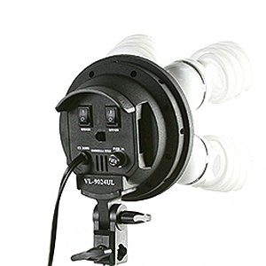 2400 Watt Video Photography Continuous Lighting 3 Softbox Light Kit with 10x12 Black Muslin Support Stand System Case H9004S3-1012B-1384