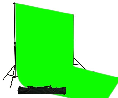 10x20 Ft Chromakey Green Muslin Backdrop Background Stand Kit-0