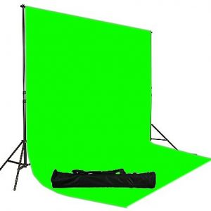 6'x9' Green Screen and Backdrop Support System H69 Green-208