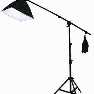 Digital Photography Video Continuous Softbox Lighting Kit Photo Studio CFL Perfect Daylight Light Kit With BOOM STAND Hair LIGHTING KIT CARRY BAG H9060SB-1418