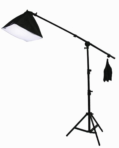 3800 Watt Digital Video Continuous Light 3 Softbox Boom Stand Hair Lighting Kit and Case H9060SB4-1427
