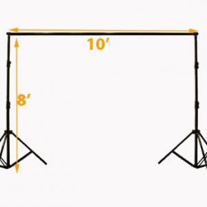 Premium Portrait Photography Studio Video Lighting Kit with 3 Chromakey Black, White, Green Muslin Supporting Background Stand System Case H4045-1456