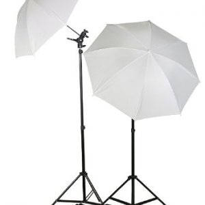 Double Photo Studio Flash, Mount, and Umbrellas Kit with Carry Case UBC4-399