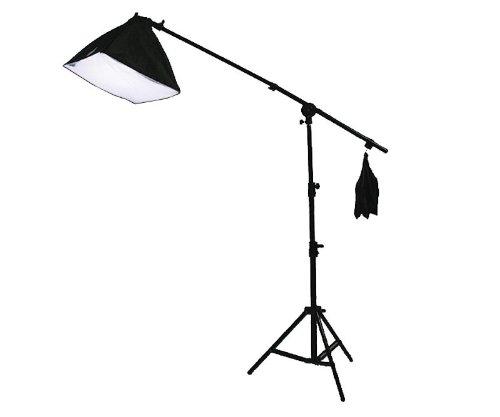 3 Light Softbox Boom Stand Hair Light 2700 Watt Continuous Video Photo Studio Lighting Kit H604SB-1352