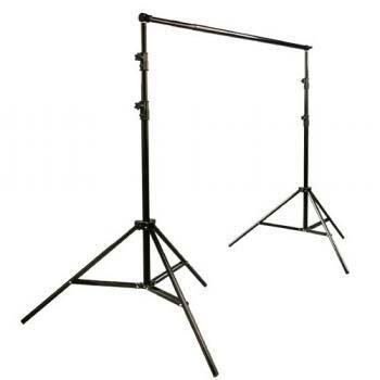 10 x 20 Muslin Chromakey Green Screen Background Support Stand Kit 2700 Watt Hair Light Boom Stand Studio Photo Video Lighting Kit H604SB-1020G-1291