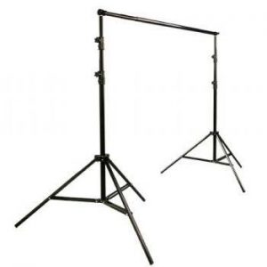 2400 Watt Video Photography Continuous Lighting 3 Softbox Light Kit with 10x12 Black Muslin Support Stand System Case H9004S3-1012B-1386