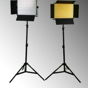 2 x 1200 LED Video Lite Panel Dimmable Photo Studio Video Lighting LED Panels & Stands-0