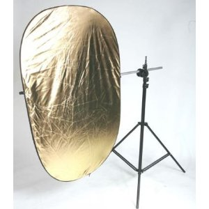 "Video Photography Reflector KIT 40"" X 60"" Arm Grip Holding Arm Light Stand Kit Combo 4060REFKIT-0"