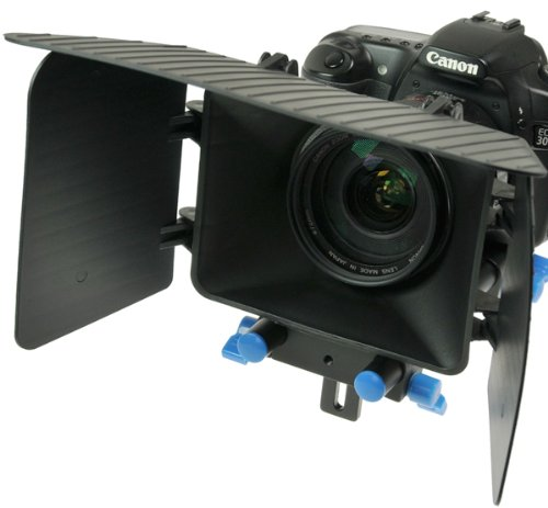 DSLR Matte Box for 15mm Rail Rod Support follow focus System D90 5D 60D 600D MattBOX-0
