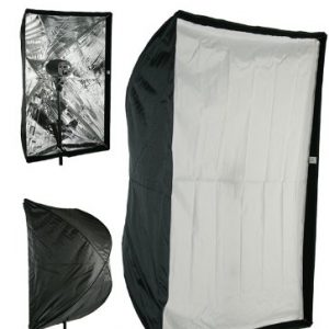 "24"" x 36"" Photography Studio Speedlite Flash Umbrella type Softbox works on Nikcon Canon AlienBees Soft6090-0"