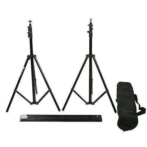 Fancierstudio Black Muslin Backdrop Support System Kit, 10 x 20 Black Muslin Backdrop-950