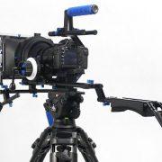 Professional DSLR RIG Shoulder Mount Follow Focus Whips, Crank, Matte Box Support System Kit Rig DSLR RLO3-1102