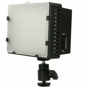 On Camera DV Camcorder DSLR 170 LED Video Photo Lite Panel Lighting with Metal Swivel Hotshoe Adapter CN170-901