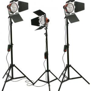 2400 Watt Barndoor Video Lighting Kit Light Kit-221