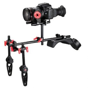 Sunrise DSLR Photography Video Steady Camcorder Shoulder Support Rig Follow Focus Set with Counter Weight SR208B-0