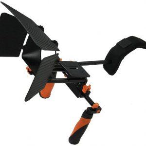 DSLR Shoulder Rig Shoulder Mount Rod Support and Matte Box RL02RMatte-0