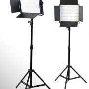 2 x 600 LED Photo Video Light Lighting Video Panel Light Stand Kit-0