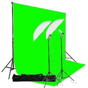 6'x9' Green Screen and Backdrop Support System H69 Green-206