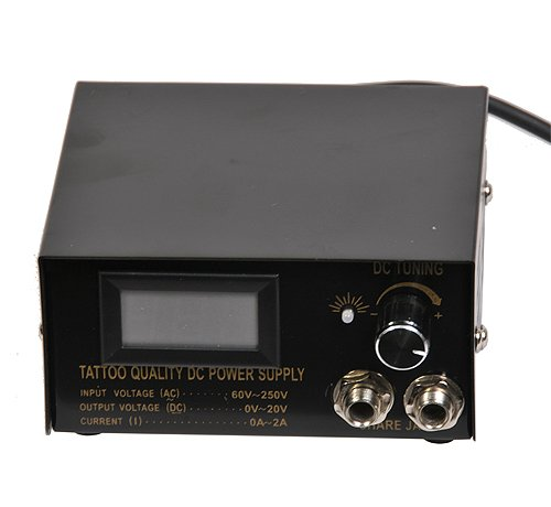 Tattoo Machine Power Supply With Tattoo Foot Pedal And Tattoo Clip Cord-1070