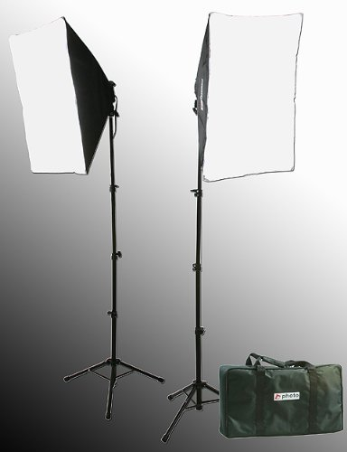 2000 Watt Lighting Kit With Boom Arm Hairlight Softbox Lighting Kit-237