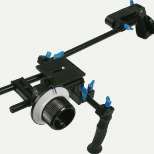 DSLR Camcorder Steady Shoulder Support Rig Mount Cinema Kit w/ Follow Focus, Counter Weight-1622