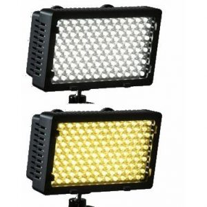 Professional 240 LED Bi Color Video Light Panel l W/ Color Temperature Switch 3200K-5400K & Brightness Dimmer CN240CH-905