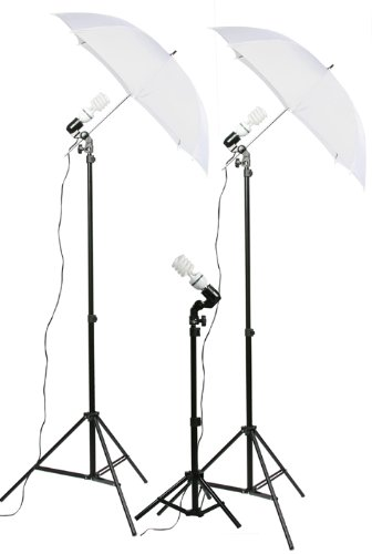 3 Point Lighting Kit Fluorescent Lighting Kit Umbrella Kit-0