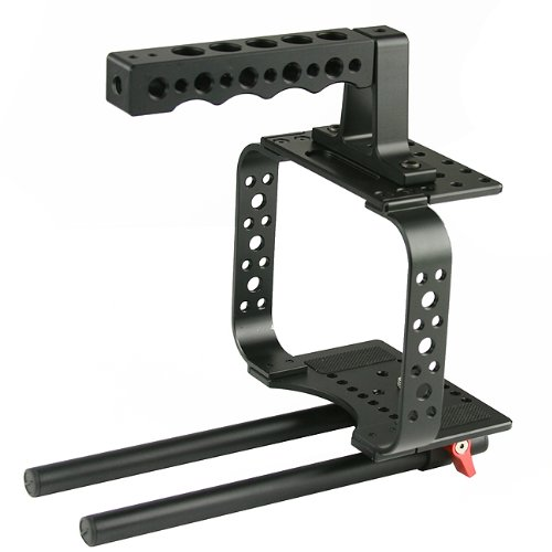 Top Handle Camera Cage For Black Magic Camera Video Movie Camera Follow Focus BMC-M -1688