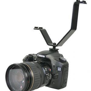 Dual Mount Light And Sound Bracket, Camcorder Dual Mount Bracket for Video Lights and Microphones V Bracket-1279