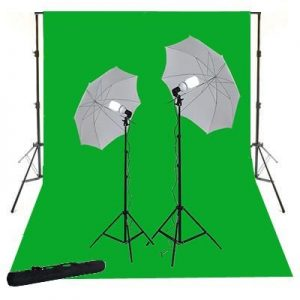 10X24 Photo Video Muslin Chromakey Photography Studio Continuous Light Kit and Stands K15+10x24green-1508