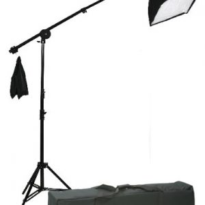 2400 Watt Lighting Kit With Boom Arm Hairlight Softbox Lighting Kit 9004SB2-107