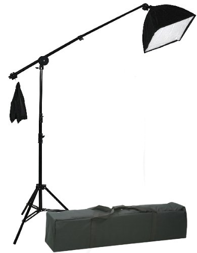 2000 Watt Photo Video Lighting Kit with Hairlight Boomstand U9004SB-10x12BWG-212