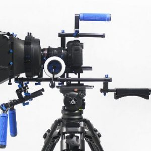 Professional DSLR RIG Shoulder Mount Follow Focus Whips, Crank, Matte Box Support System Kit Rig DSLR RLO3-1098