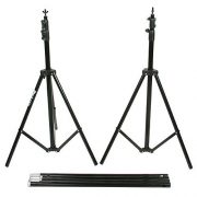 Fancierstudio Black Muslin Backdrop Support System Kit, 10 x 20 Black Muslin Backdrop-951