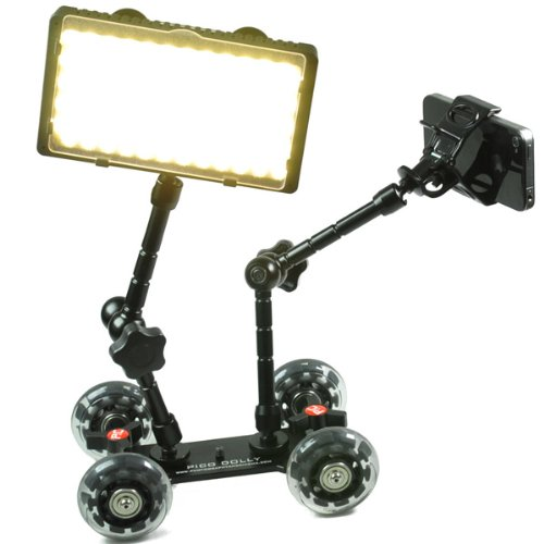 240 Color Changing LED Light Panel and Pico Skater Dolly 2 Articulated Arm Complete Kit LEDPICO-0