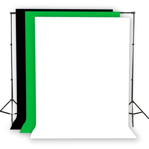 2000 Watt Photo Video Lighting Kit with Hairlight Boomstand U9004SB-10x12BWG-213