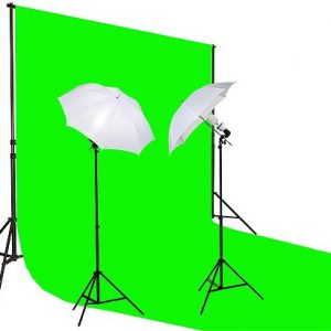 10x20 Ft Chroma Key Green Screen Photo Video Lighting Kit K15 10x20Green-0