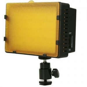 On Camera DV Camcorder DSLR 170 LED Video Photo Lite Panel Lighting with Metal Swivel Hotshoe Adapter CN170-900