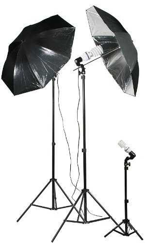 1000 Watt Video Lighting Umbrella Softbox Kit DK1000-0