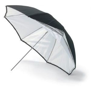 silver black umbrella