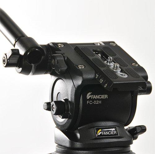 Fancierstudio Professional Video Camera Tripod FC-270 Pro Video Camera Tripod with Fluid Head By Fancierstudio FC-270-191