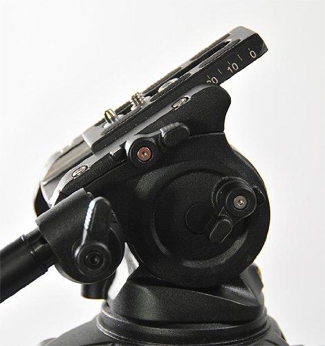 Fancierstudio Professional Video Camera Tripod FC-270 Pro Video Camera Tripod with Fluid Head By Fancierstudio FC-270-186