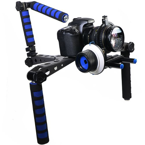 DSLR Follow Focus Rig Movie Kit Shoulder Rig Mount, Shoulder Support Pad for Video Camcorder Camera RL01MBSET-0