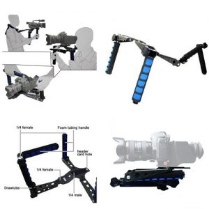 DSLR Follow Focus Rig Movie Kit Shoulder Rig Mount, Shoulder Support Pad for Video Camcorder Camera RL01MBSET-1174