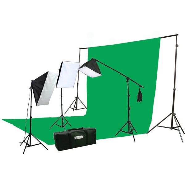 10 X 20 Large Chromakey Chroma KEY Green Screen Support Stands 3 Point Continuous Video Photography Lighting Kit H9004SB-1020G-1445