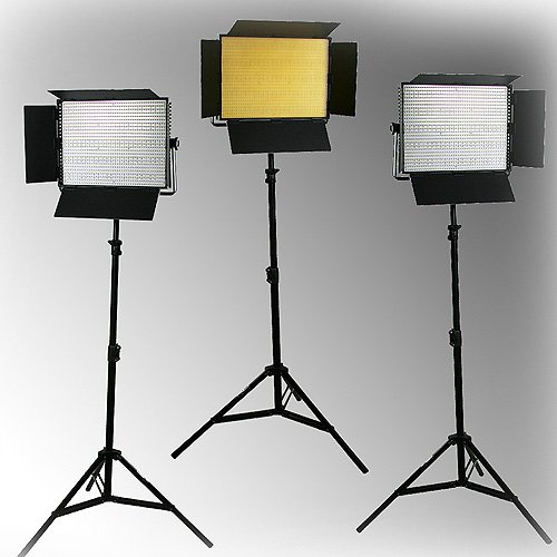 Dimmable 3 x 1200 LED Lite Panel Video Photography LED Lighting Kit-0
