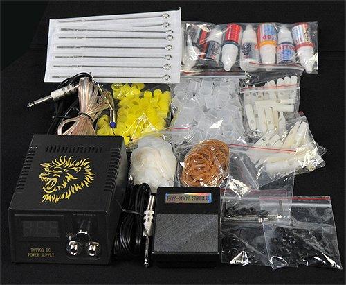 Premium Tatoo Kit 6 Tattoo Guns Kit with LCD Power Supply Tattoo Machine Kit By Fancierstudio A08-1053
